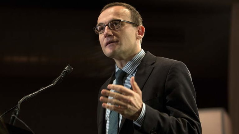 """""""Only Tony Abbott could create a 'workforce' where the workers aren't legally workers and have no workplace rights"""": Adam Bandt."""