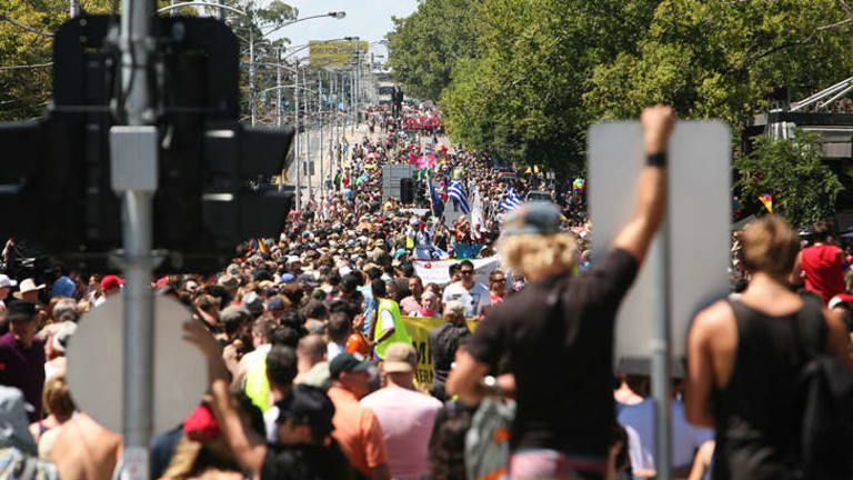 The Pride March will be held in St Kilda today.