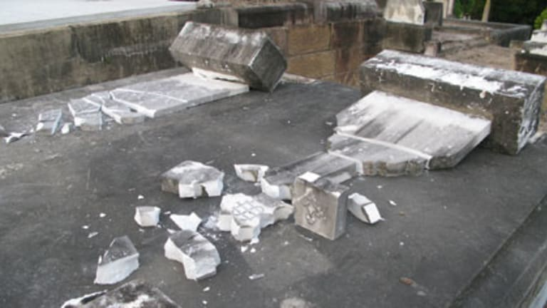 Graves have been vandalised at Toowong cemetery.
