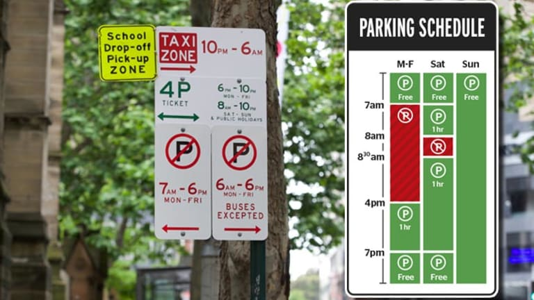 Operation simplify: signs can include up to five different parking schedules; the new signs would make it much simpler to establish which schedule affects you.