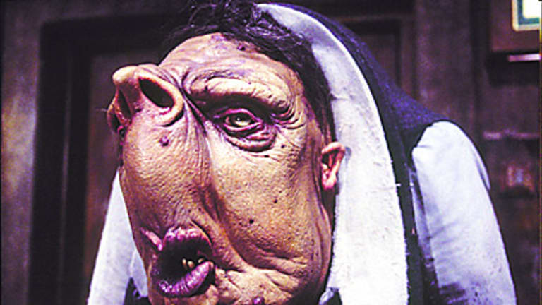 A Vogon in a scene from the film adaptation of  <i>The Hitchhiker's Guide to the Galaxy</i>