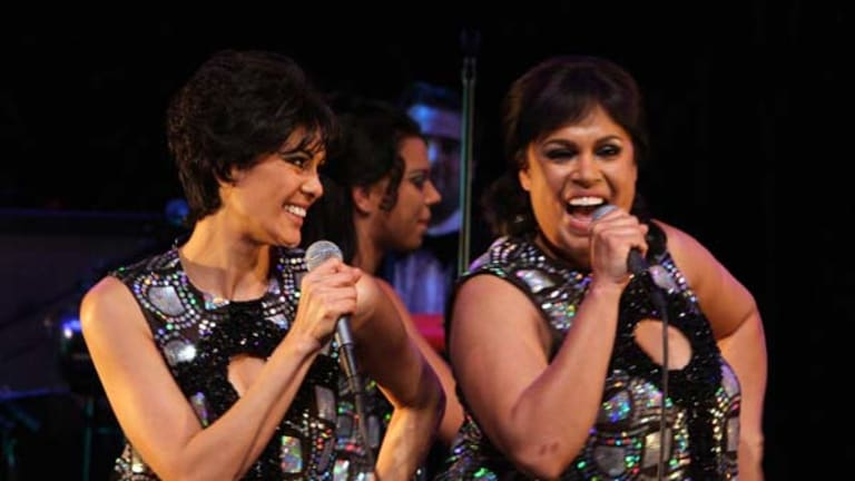 In the singing stakes, Christine Anu (right) really sizzles.