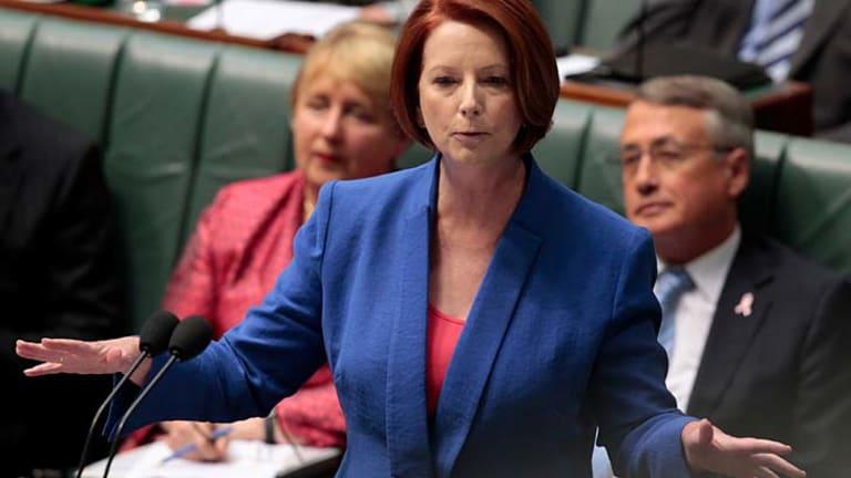 The mask fell away ... Prime Minister Julia Gillard.