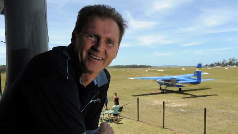 Mayor of the Eurobodalla Shire, Lindsay Brown, at the Moruya airport, which he hopes can be re-developed.