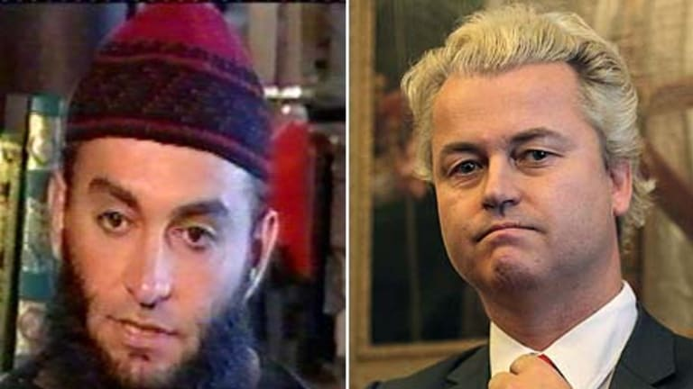 """""""Equally extreme"""" ... Feiz Mohammad and Geert Wilders."""
