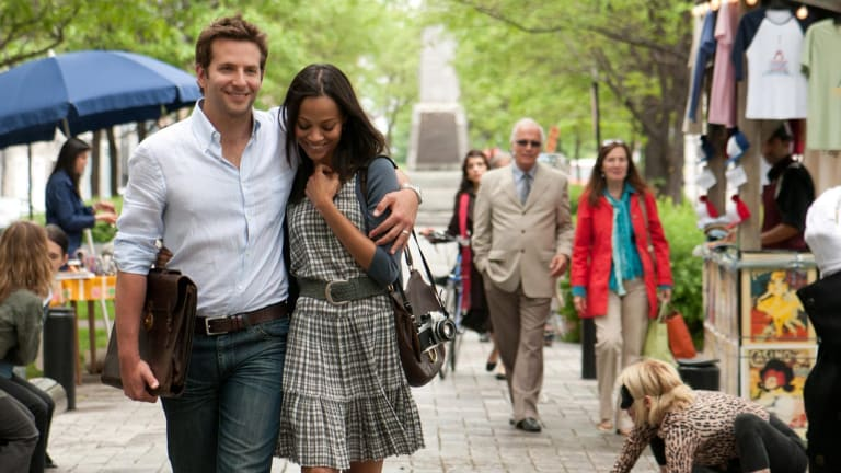 Bradley Cooper and Zoe Saldana in a scene from The Words.