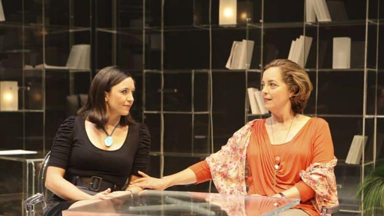 Difficult job … Emma Jackson and Greta Scacchi.