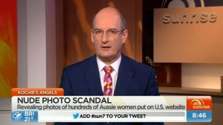 "Sunrise co-host David 'Kochie' Koch did defend the victims on the program, calling the nude photo hack ""identity theft""."