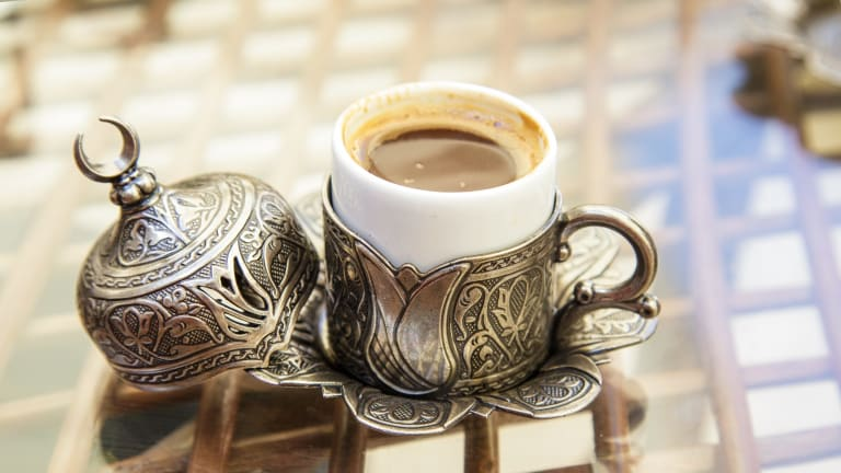 Turkish coffee: The popularity of products that comply with the Koran have helped drive a 4.6 per cent gain in the SAMI Halal Food Index of shares this year.