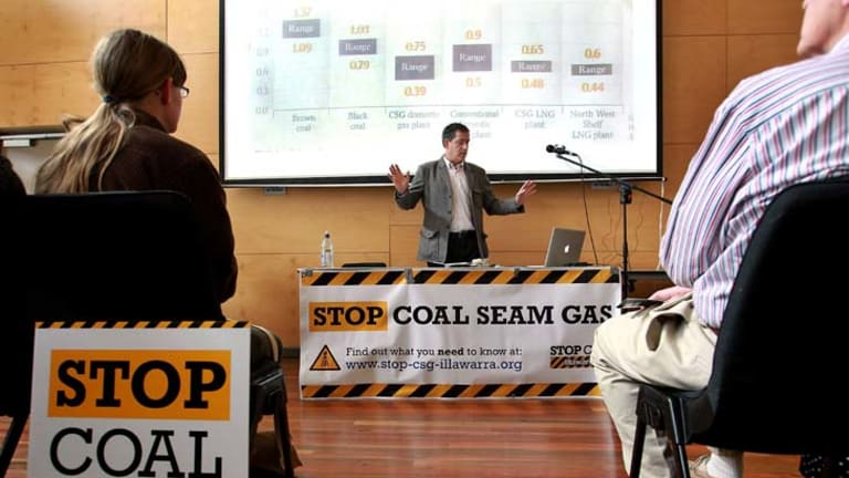 Not so popular ... any ad trying to sell coal seam gas will have to counter the stiff opposition from community groups.