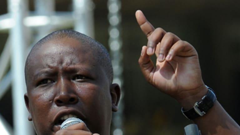 Julius Malema... firebrand praised Robert Mugabe.