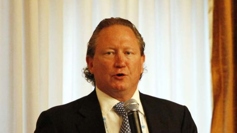 Rigged ... the chief executive of Fortescue Metals Group, Andrew Forrest, claimed the mining tax was negotiated to suit BHP, Rio Tinto and Xstrata.