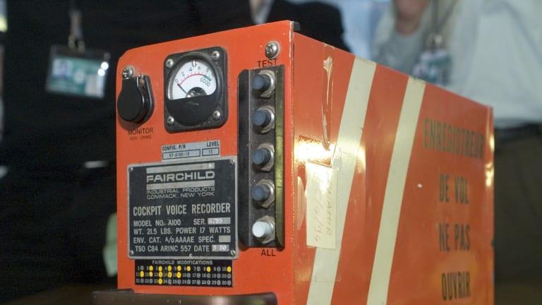 A 'black box' flight recorder.