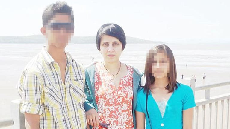 Died ... Jacintha Saldanha, pictured with her family.