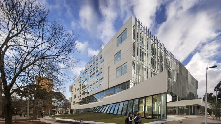 The University of Melbourne's new academic building, the Melbourne School of Design (MSD), designed by Melbourne architect John Wardle and Boston-based architect Nader Tehrani.