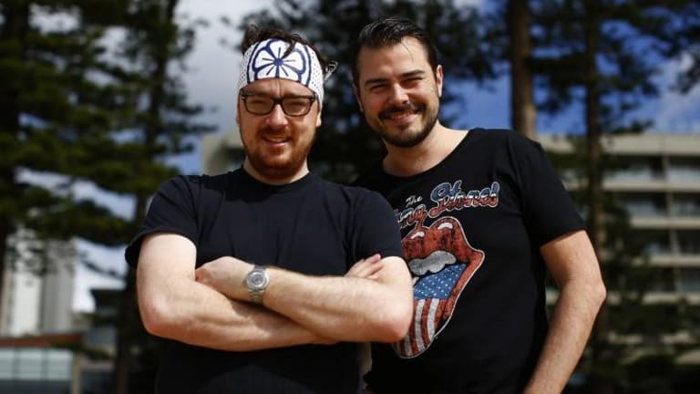 Benjamin Orpwood and Jeremy Rockey from Daniel San, a Japanese rock 'n' roll bar in Manly.