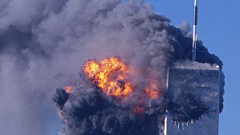 The second plane strikes New York's World Trade Centre on September 11, 2001.