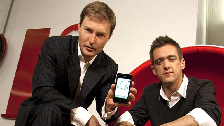 Developers of goCatch, Andrew Campbell and Ned Moorfield.