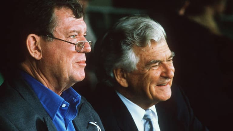 Robert Hughes with Bob Hawke at the races.