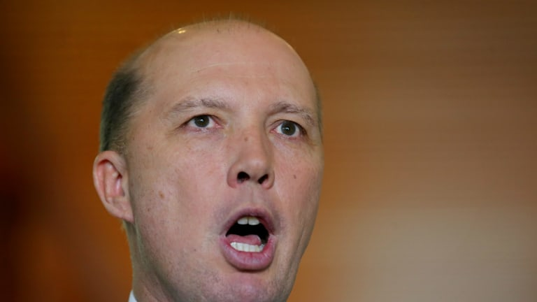 """""""They can be of any background, they can come to this country on any visa"""": Immigration Minister Peter Dutton."""