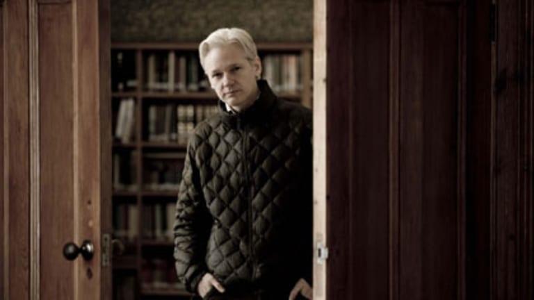 Setting knowledge free ... Julian Assange, the only self-identified employee of the Wikileaks website.