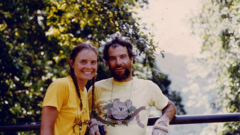 Mackay-Sim with wife Lisa Peine in North Queensland in 1983.