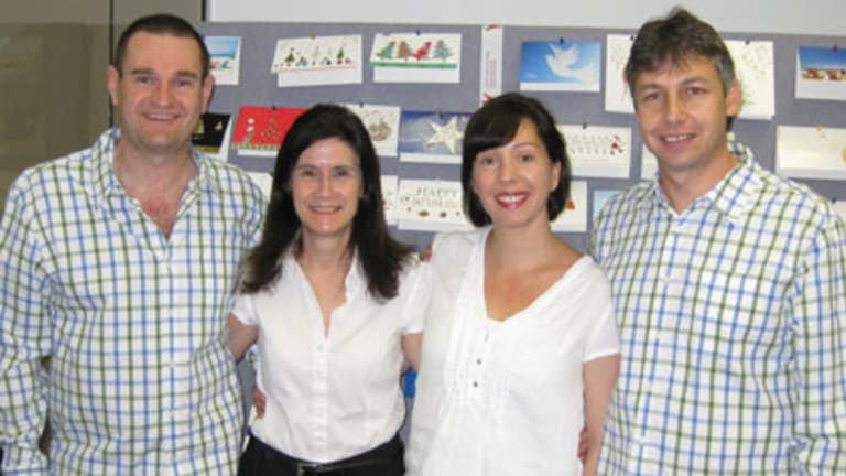 Charity Greeting Cards founder Stephen Shubitz (right) with his team.