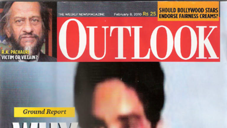 The cover of India's Outlook magazine.