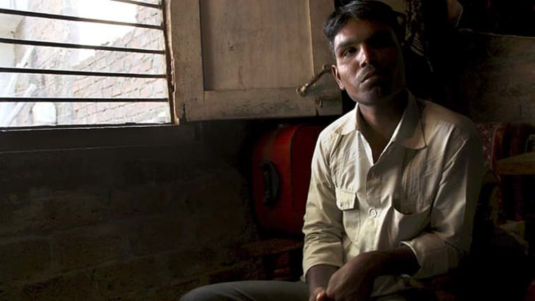 Devastated ... Irshaad Khan signed documents thinking he was helping his family.
