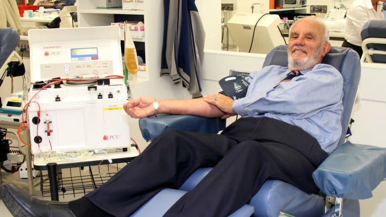 James Harrison, 80-year-old blood donor extraordinaire.