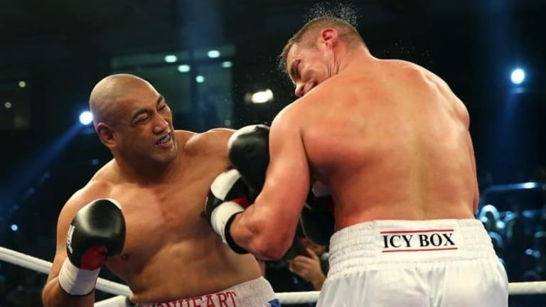 Alex Leapai (left) will have to unleash hell to defeat Wladimir Klitschko, according to former world title-holder Joe Bugner.