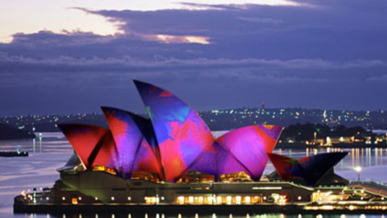 Lighting the Sails - Sydney Opera House