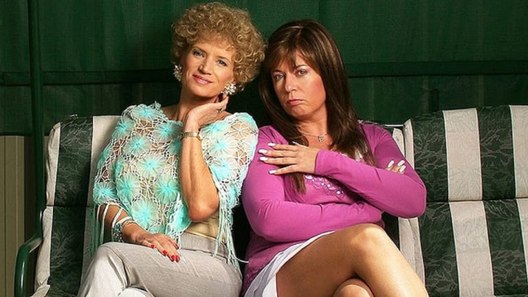 Jane Turner and Gina Riley, aka Kath & Kim.