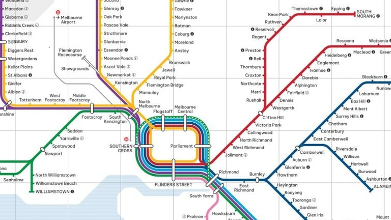 The new Victorian train network map.