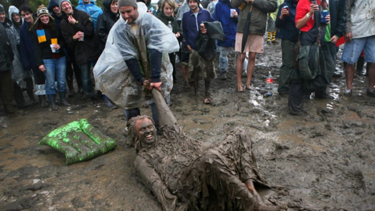 Rain did little to dampen the crowd's spirit at this weekend's sodden Meredith Music Festival.
