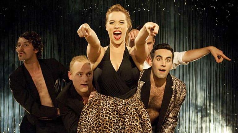 Spot of bother ... Caitlin Adams, centre, excels as a scream queen.