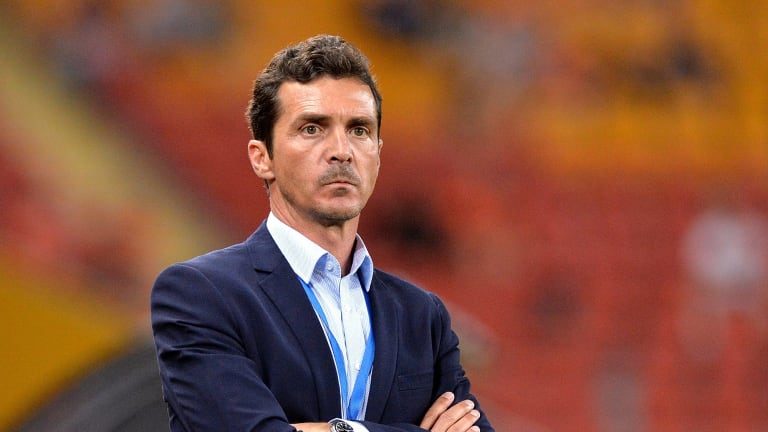 BRISBANE, AUSTRALIA - OCTOBER 31:  Coach Guillermo Amor watches on during the round four A-League match between Brisbane Roar and Adelaide United at Suncorp Stadium on October 31, 2015 in Brisbane, Australia.  (Photo by Bradley Kanaris/Getty Images)
