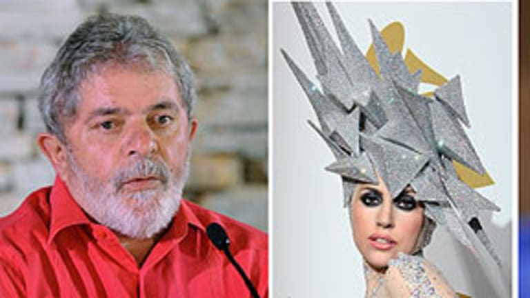 Topping the list ...  Brazil's leader Luiz Inacio Lula da Silva, Lady Gaga, former US president Bill Clinton.