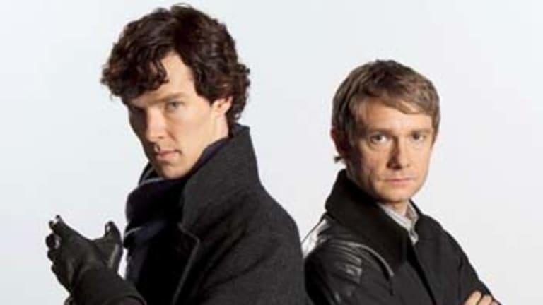 Trusty sidekick ... Watson (Martin Freeman) is loyal to Sherlock Holmes (Benedict Cumberbatch).