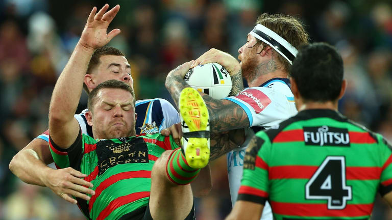 Eels target: Rabbitohs prop Nathan Brown is considering a move to Parramatta.
