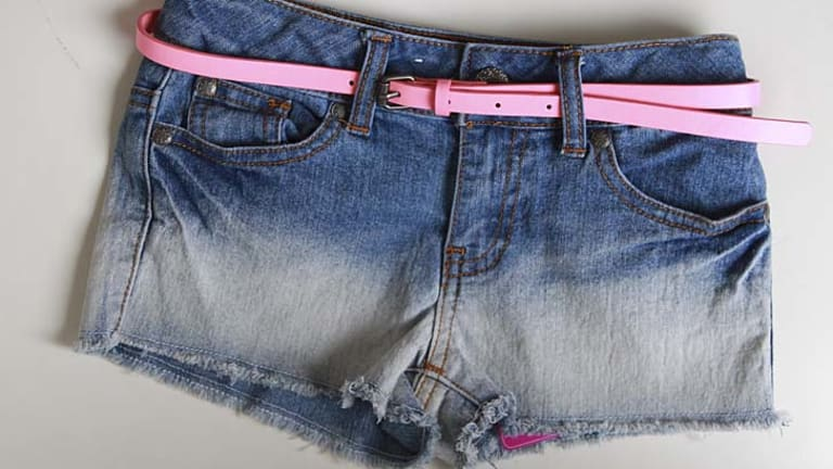 Denim shorts for young girls, bought from Target.