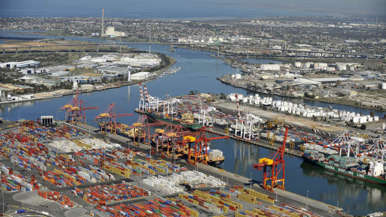 The Port of Melbourne.