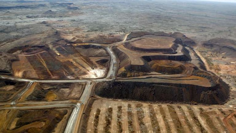 An aerial view of the Christmas Creek mine.
