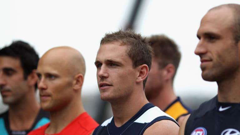 Contenders: Geelong captain Joel Selwood.