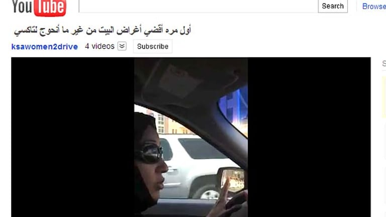 Manal al-Sharif takes the wheel.