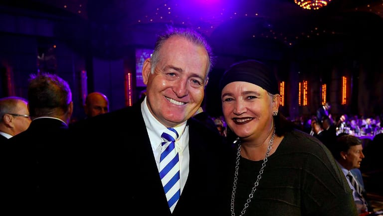 Great of the union: Former Wallabies legend David Campese and Rugby Australia chief executive Raelene Castle pose for a photo at the lunch.