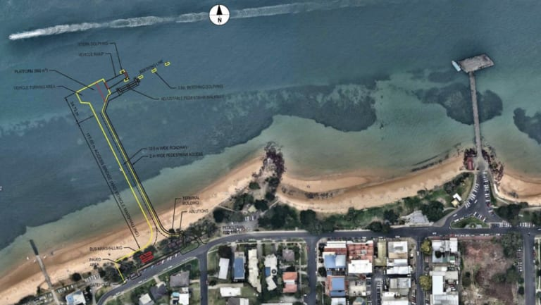 One of the three proposed locations for the Cowes Car Ferry Terminal, all of which are along Osbourne Beach.