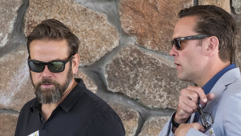 Lachlan Murdoch (left) will be CEO of the new Fox company, with his brother James (right) expected to depart.
