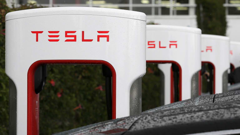 Tesla is vastly over weighted compared to its peers, despite holding a much smaller market share.