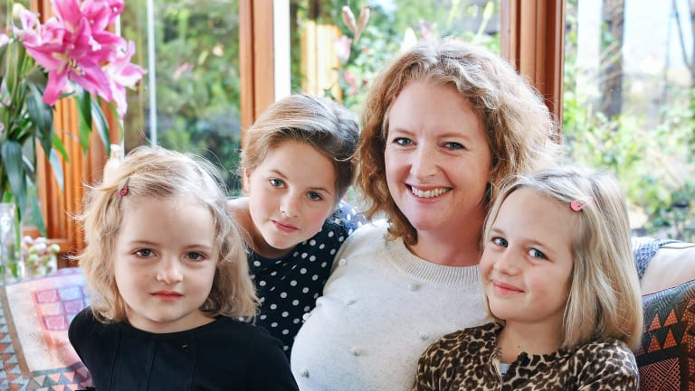 Sarah Rejma with  daughters (left to right) Lulu, Kasia and Ella.